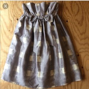 ✨MARC JACOBS cocktail plaid silver dress sz. 2
